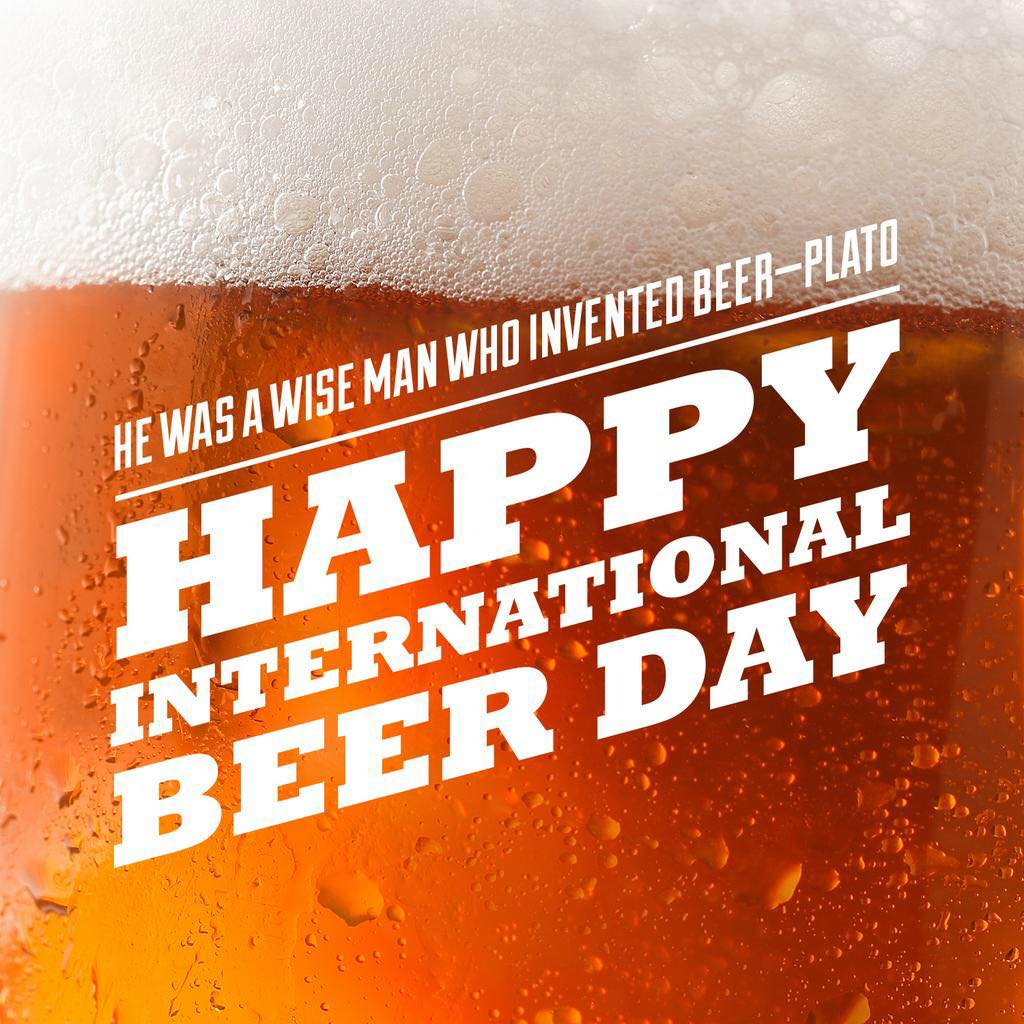 It's International Beer Day! Stop by and celebrate with us! It's a great weekend…