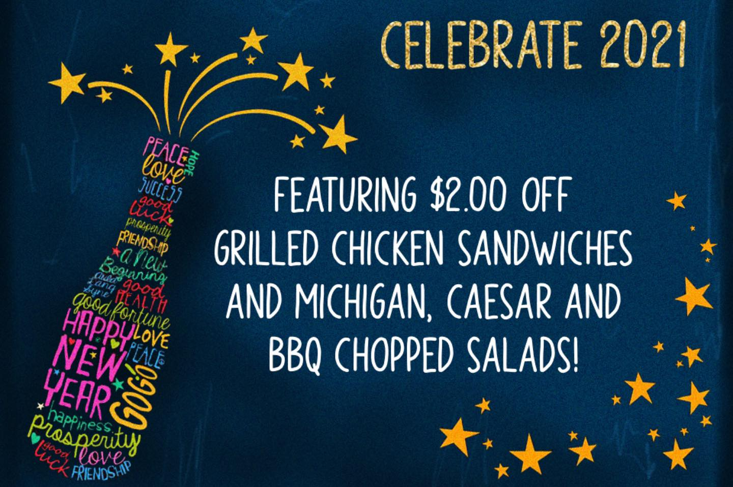 Start the new year out with one of our features!! $ off Grilled Chicken…